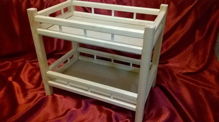 Двухъярусная кроватка для кукол ростом до 40 см    цена без постельных комплектов - 900 рублей  с постельками - 1200