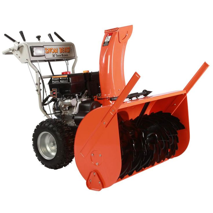 36 in. Two Stage Electric Start Gas Snow Blower with Headlights