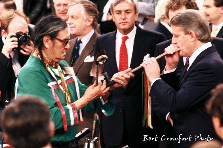 Pipe Ceremony with Elder Alex Skead and PM Mulroney