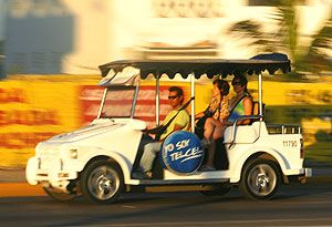 One of our favorite parts about Mazatlan (besides the food and surf of course!) These Pulmonia taxis! VW Safari Things!