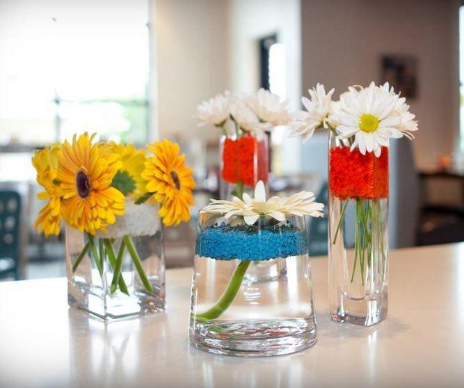 Diy floral arrangement with deco dots group mix diy do for Do it yourself flower arrangements