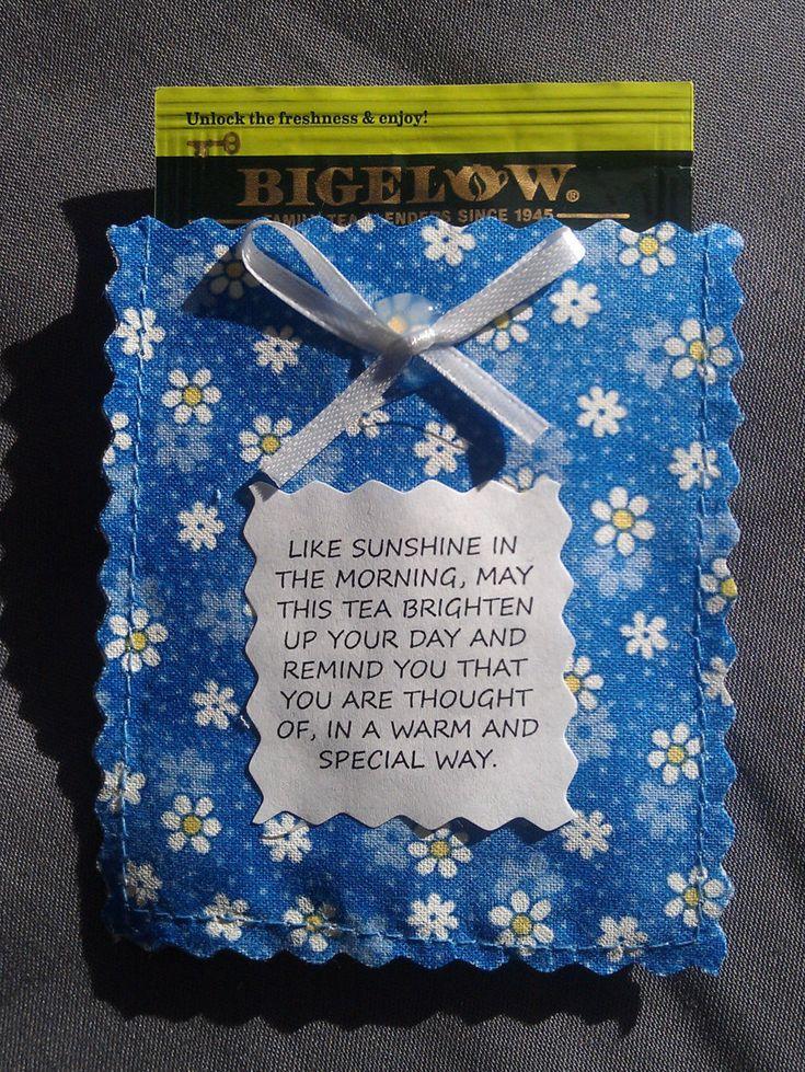 Floral Friendship Tea Pouch Poem Amp Tea Bag Tea Party