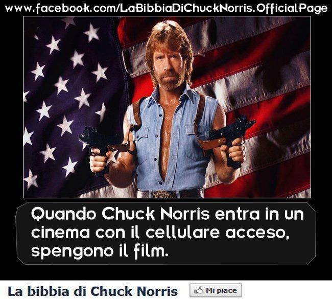 Quando Chunk Norris entra in un cinema con il cellulare acceso... spengono il film