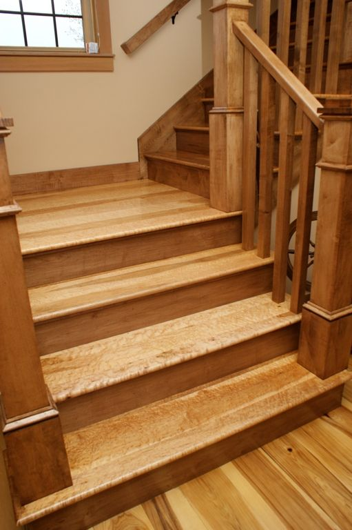 Best Birdseye Maple Stair Treads Mill Direct Maple Floors 400 x 300