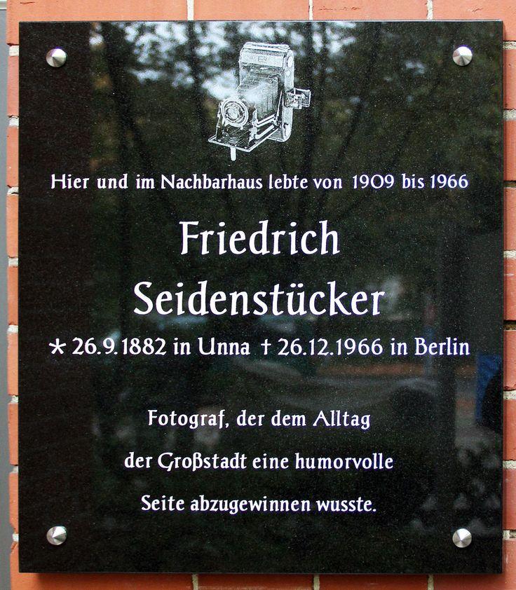 Gedenktafel Bundesplatz 17 (Wilmd) Friedrich Seidenstücker2 - Friedrich Seidenstücker – Wikipedia