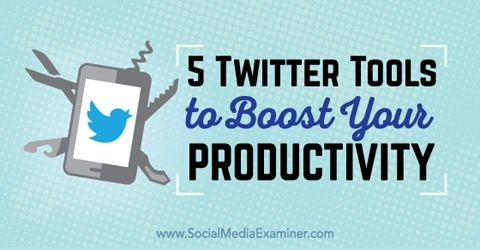 5 Twitter Tools to Boost Your Productivity.  In this article you'll discover five Twitter tools to boost your productivity.  #socialmedia #twitter #twittertips #twittermarketing #socialmediamarketing #socialmediatips #productivity #tweetjukebox #socialmediatools #growthhacking  http://goo.gl/vqZ4Ur