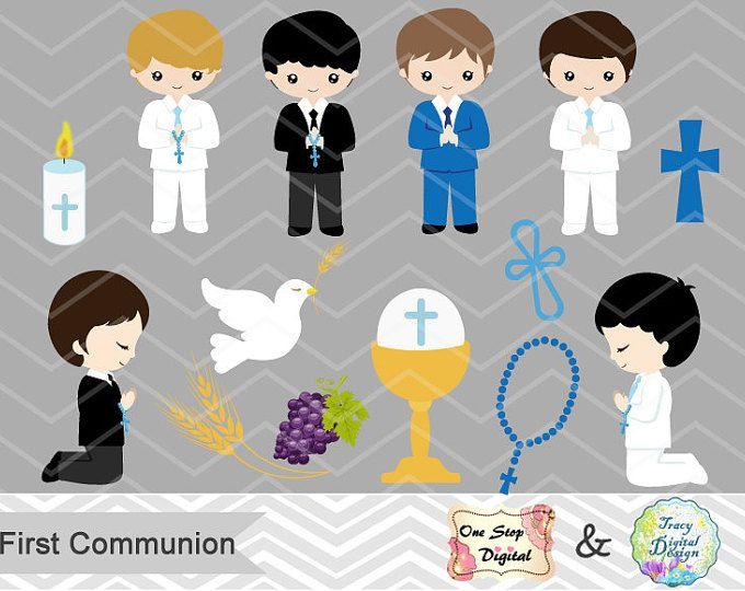 Digital primera comunión Clip Art, niño primera comunión Imágenes Prediseñadas, primera comunión Digital Imágenes Prediseñadas, niño primera comunión Clip Art, 00191