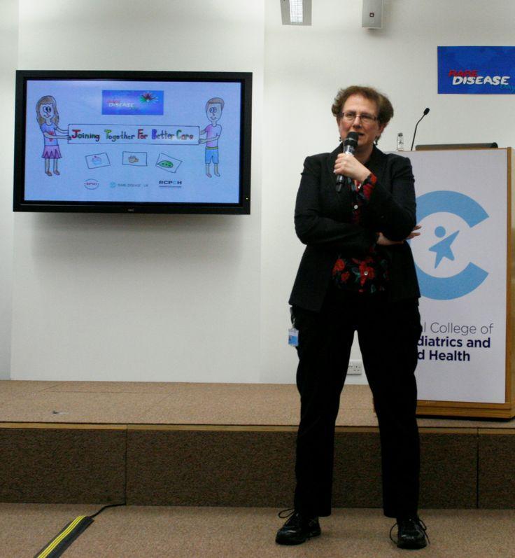 Hilary Cass, RCPCH President speaking on rare disease.