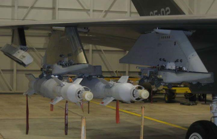 Double gbu racks seen in ground tests f35 joint strike