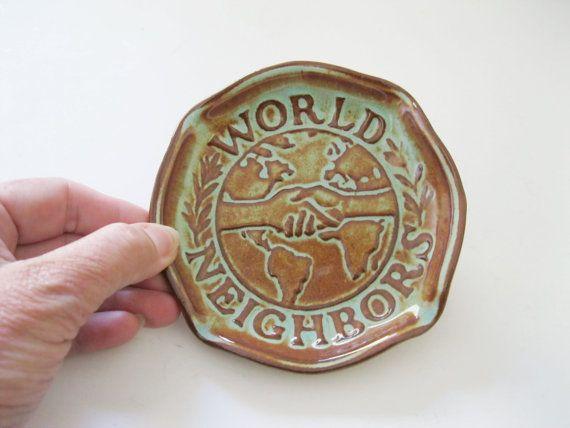 Nicodemus Pottery World Neighbors Ashtray by TheSnapDragonsLair