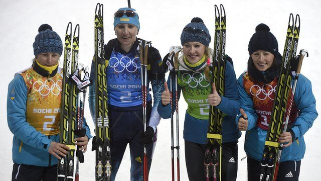 ▼21Feb2014 BBC|Sochi 2014: Ukraine win first gold with biathlon victory http://www.bbc.com/sport/0/winter-olympics/26293812 #sochi2014 #Biathlon #Womens4x6kmRelay #ukraine #ucrania