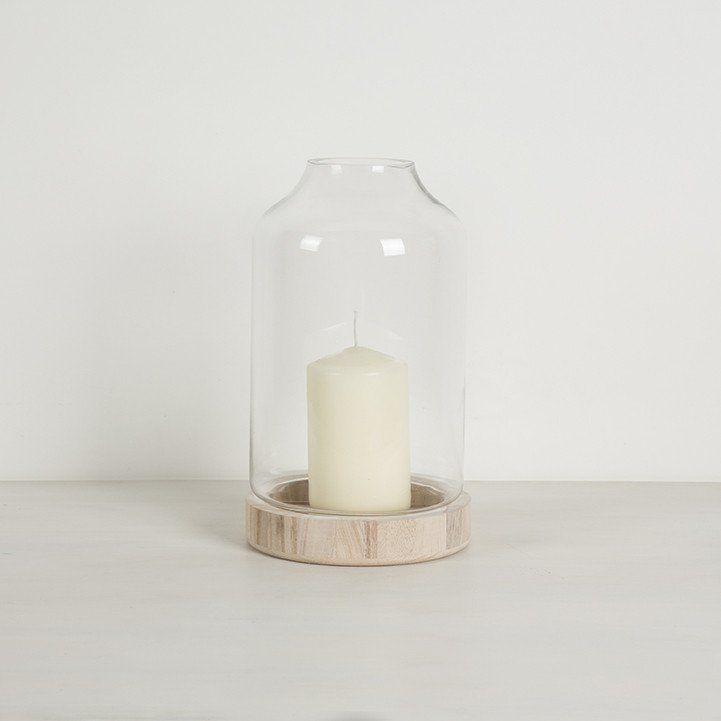 Lantern with Wood Base