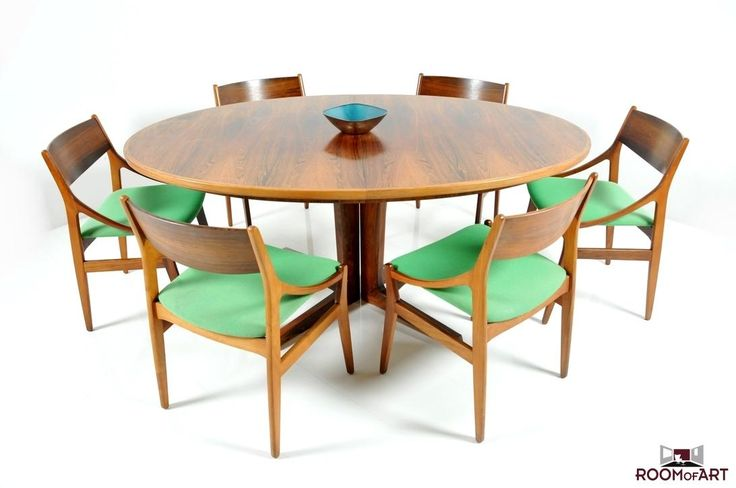 AreaNeo | H. Vestervig Eriksen  set of 6 rosewood dining chairs, made by Brdr.Tromborg 1960s