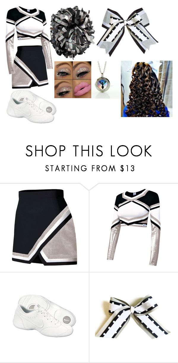 """High School Cheer Uniform (Varsity Cheer Competition)"" by hmarbut on Polyvore featuring Chassè and NIKE"