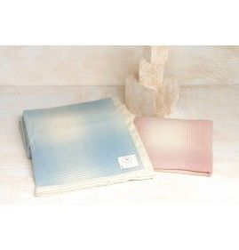 SPRING CRADLE BLANKET CASHMERE AND WOOL WITH LIGHT PICTURES, TRENDY