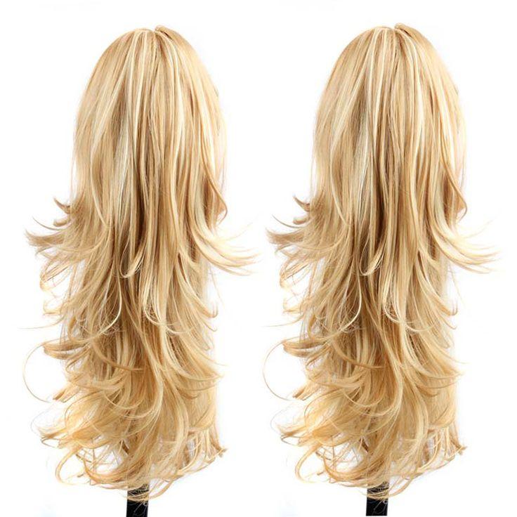 긴 곱슬 머리 꼬리 최고의 합성 포니 테일 확장 자연 가짜 빛깔 Hairextensions 머리 발톱 포니 테일 헤어 피스