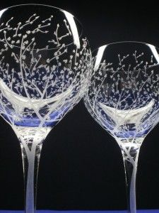 beautifully engraved glasses itu0027s wonderful to drimk a good drop of wine from a lovely glass - Etched Wine Glasses
