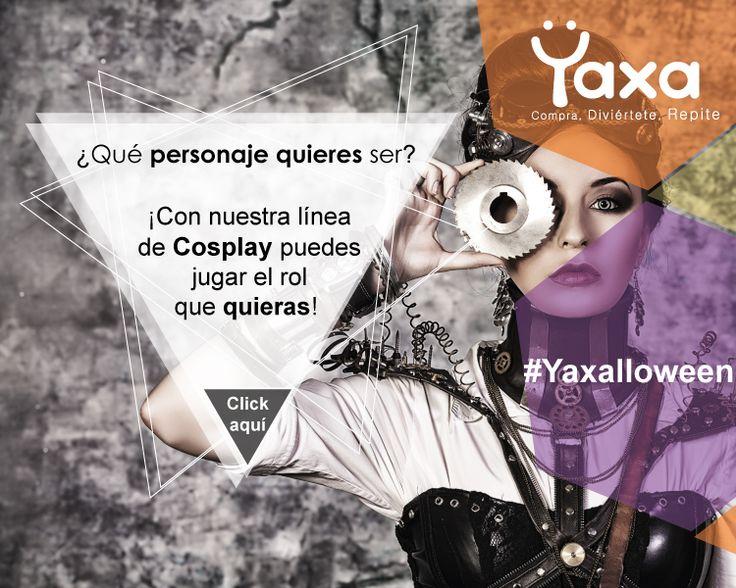 ¿Qué personaje quieres ser? ¡Con nuestra línea de Cosplay puedes jugar el rol que quieras! #Halloween con Yaxa.co #Yaxa y #Diviértete #Yaxalloween https://yaxa.co/