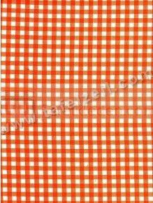 Miniruitje oranje Retro tafelzeil, leuk om campingaccessoires van te maken.