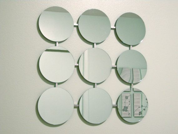 Mod Mirrors Retro Circles Modern Mirror 1960's by inspiring4u2, $69.00
