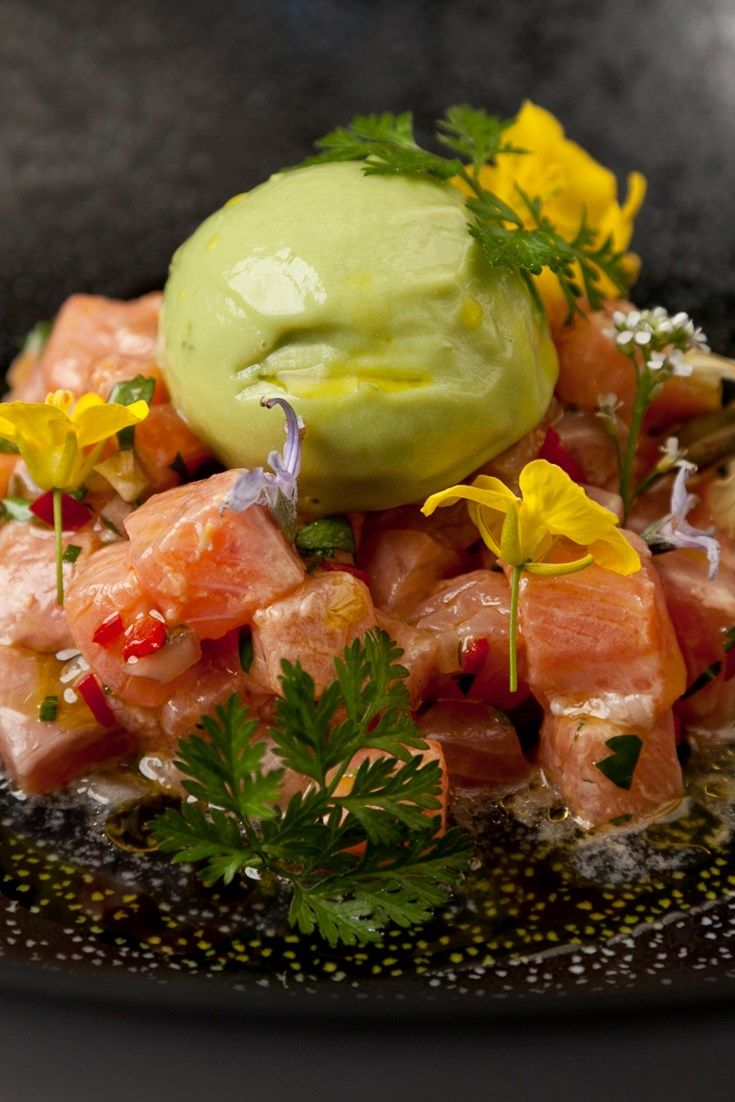 Galton Blackiston is known for subverting classic flavour combinations - here he pairs a trout ceviche recipe with a fresh and gorgeous avocado sorbet