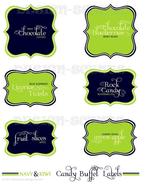 Candy Buffet Labels Bar Pinterest Cart And Weddings