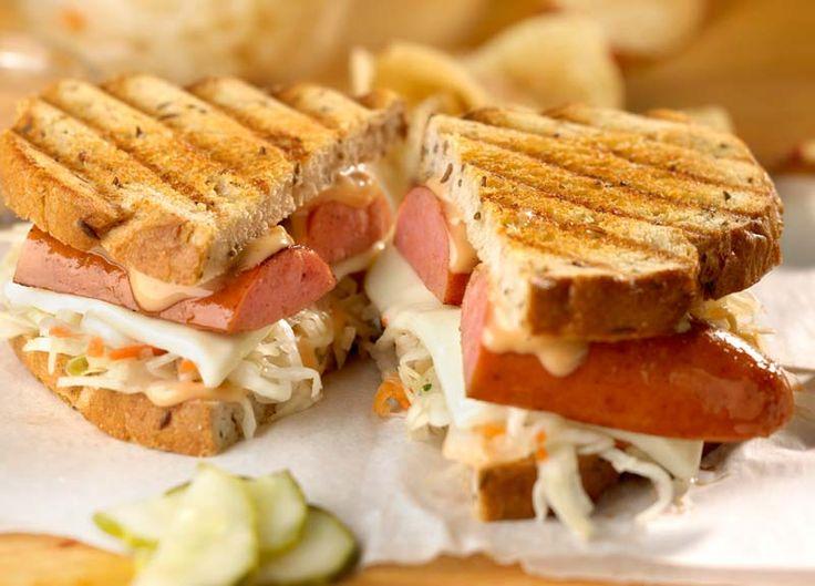 Grilled Reuben Sandwich with Polish Kielbasa - Johnsonville.com