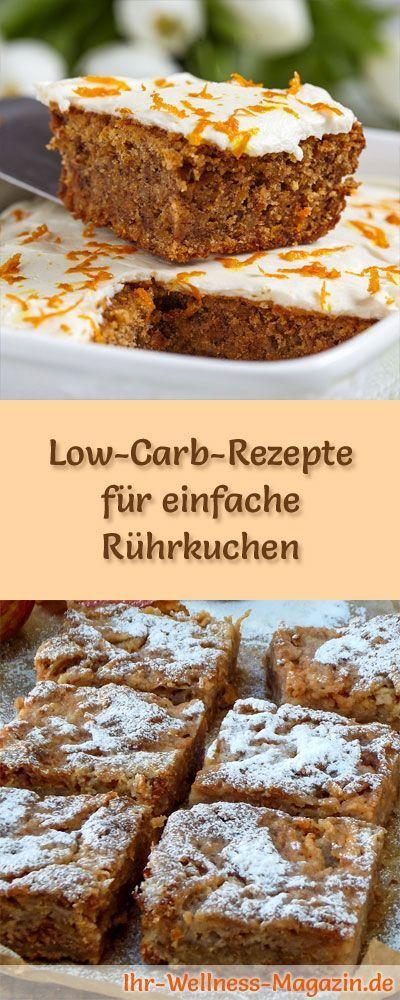 15 Low-Carb-Rezepte für einfache Rührkuchen: Gesund, kalorienreduziert, ohne Getreidemehl und ohne Zuckerzusatz ...
