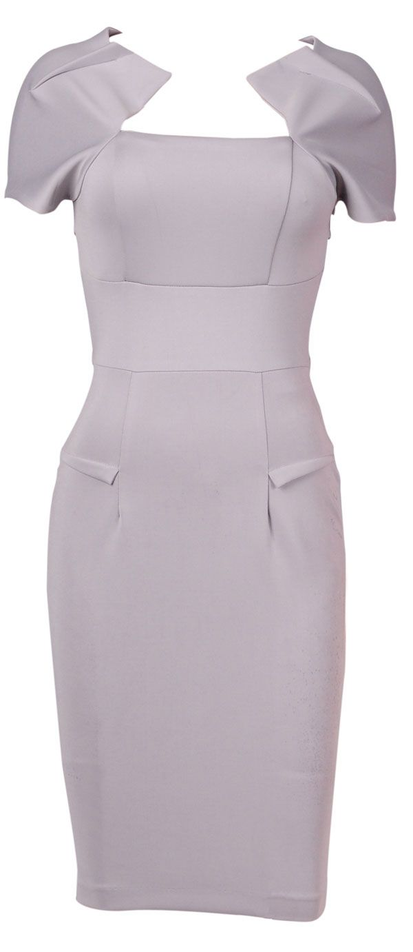 Clothing :: Dresses :: 'Hollywood' Grey Galaxy Pencil Dress - Celeb Boutique - Celebrity Style At High Street Prices| Bodycon Dresses | Bandage Dresses | Party Dresses