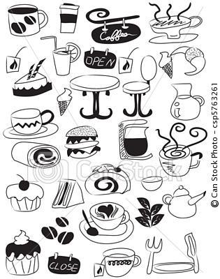 mini food sketches