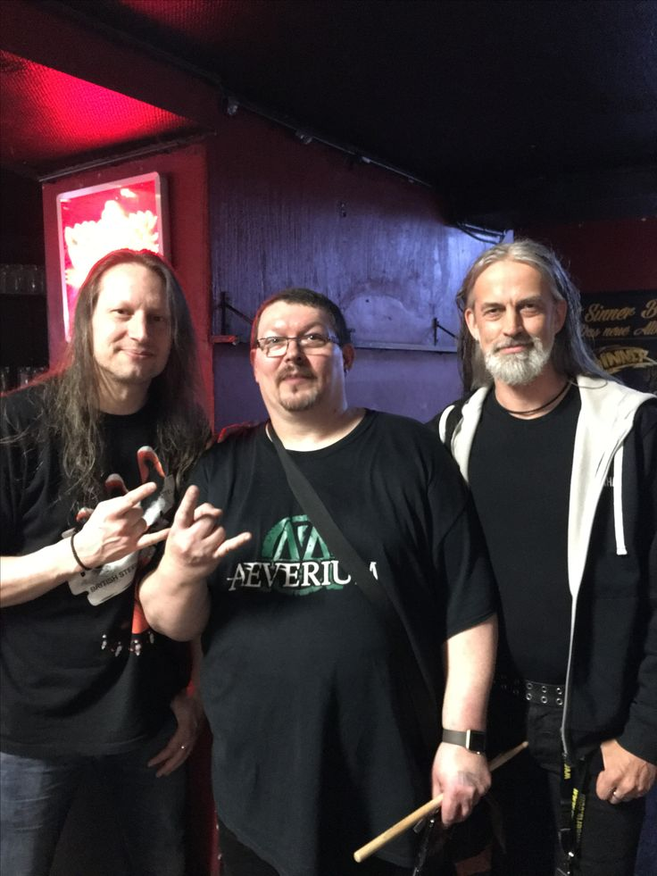 Michael Ehre' Drummer from Gamma Ray and The Unity and Jogi Sweers Bass player from The Unity @Turock Essen 14.05.2017