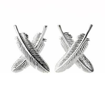 Feather Kisses Silver Earrings - Boh Runga | Shop New Zealand NZ$ 179.00
