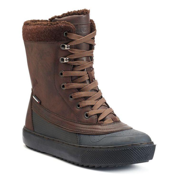 Superfit Nathan Men's Waterproof Winter Boots, Size: 12, Black