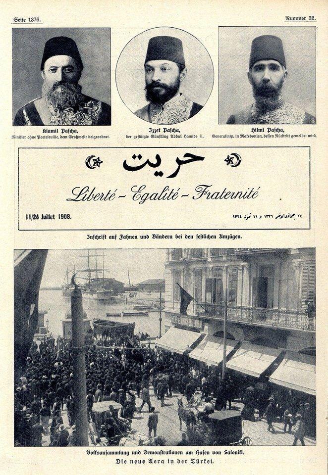 Jön Türkler Sultan #Abdülhamid'e Karşı - 1908 İhtilalini başlatan ilk gösteriler #Selanik'te başlamıştı.