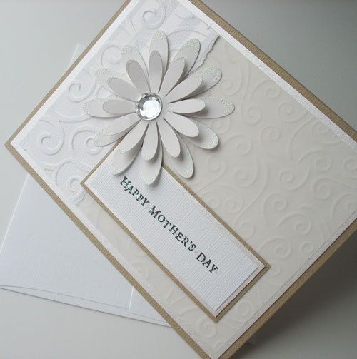 Mothers Day Greeting Card:  Handmade Blank Note Card - Heavenly (No.1)