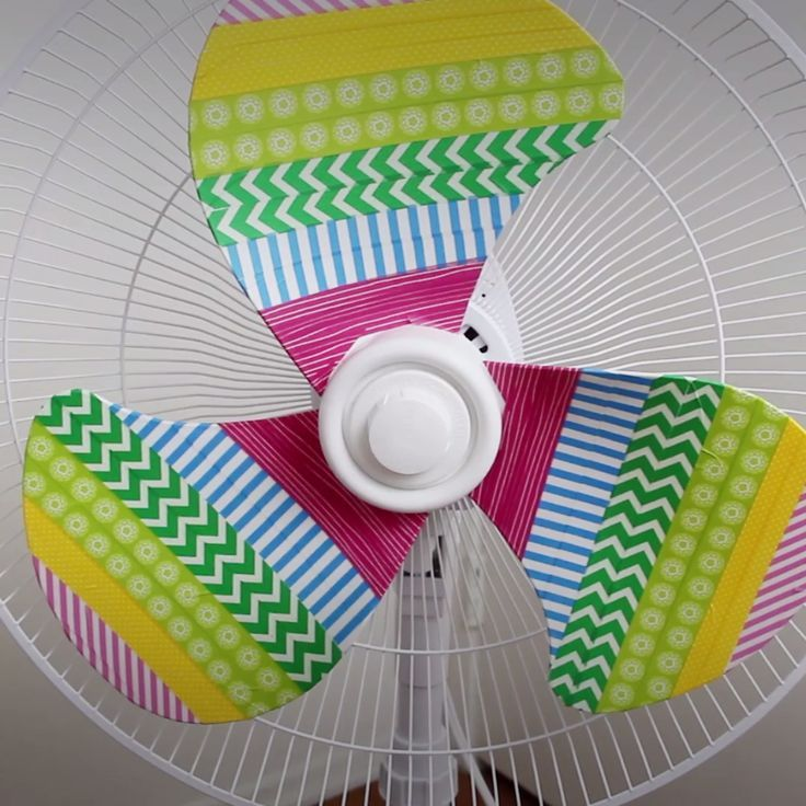 DIY Rainbow Fan