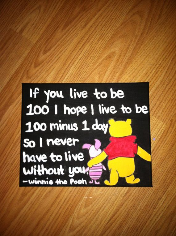 Winnie the Pooh Canvas Quote 8x10 Made to by AnnaCarolinesCrafts, $8.00
