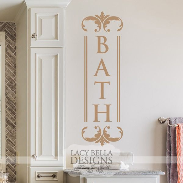 59 Best Images About Bathroom Decals On Pinterest Wash Brush Vinyls And Bathrooms Decor
