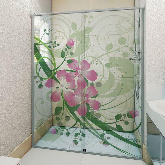 Adesivo Para Box De Banheiro 3d Flor Rosa Com Imagens Adesivo