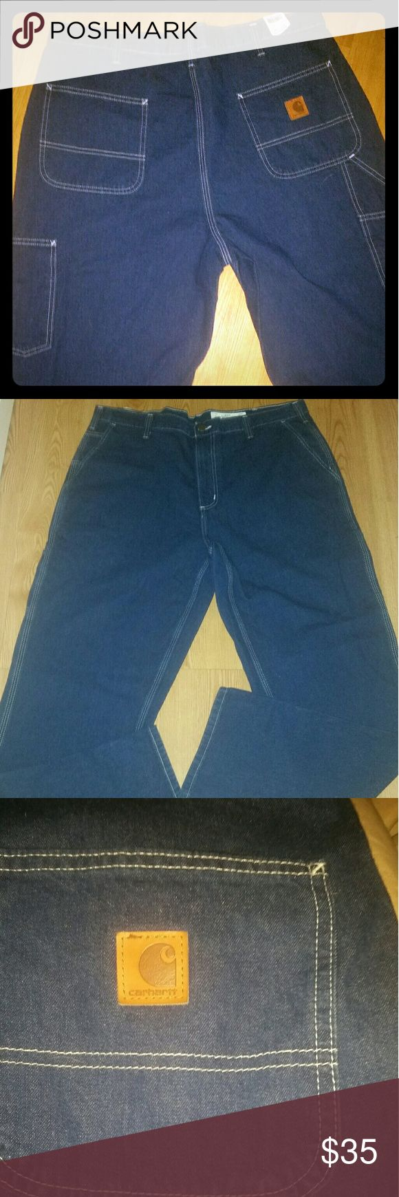 NWT Carhartt jeans NWT Carhart jeans I have 9 pair brand new with tags for $ 300 or $35 each Carhartt Jeans Relaxed