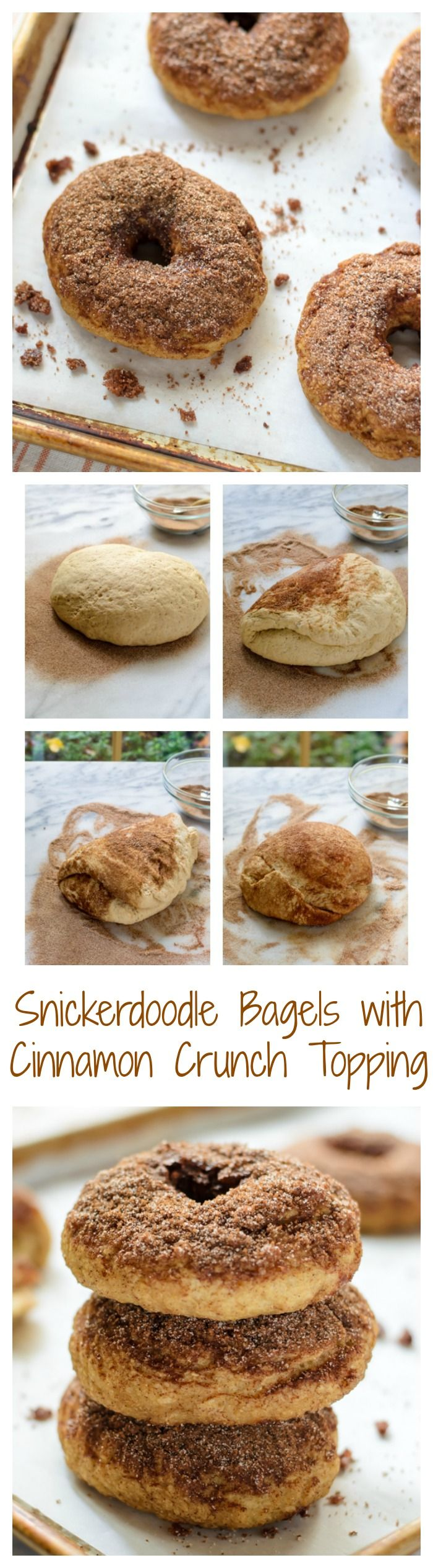 Soft and chewy homemade bagels that taste just like snickerdoodle cookies. A cinnamon crunch bagel topping makes these absolutely…
