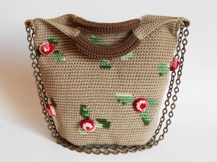 3D Roses bag crochet pattern by Chabepatterns