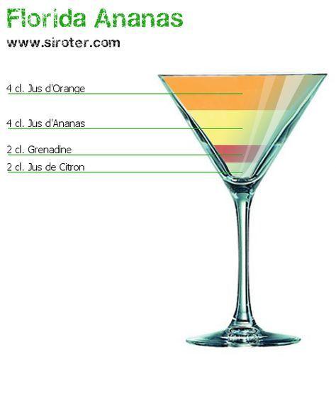 Recette Cocktail FLORIDA ANANAS