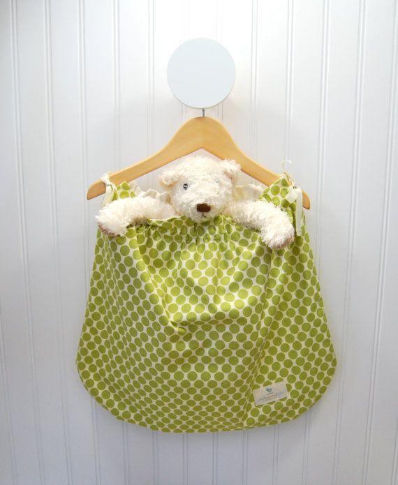 Hanging Nursery Bag,  Storage,  Laundry,  Amy Butler,  Lotus,  Full Moon Polka Dot: