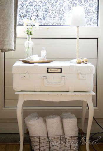 suitcase night table