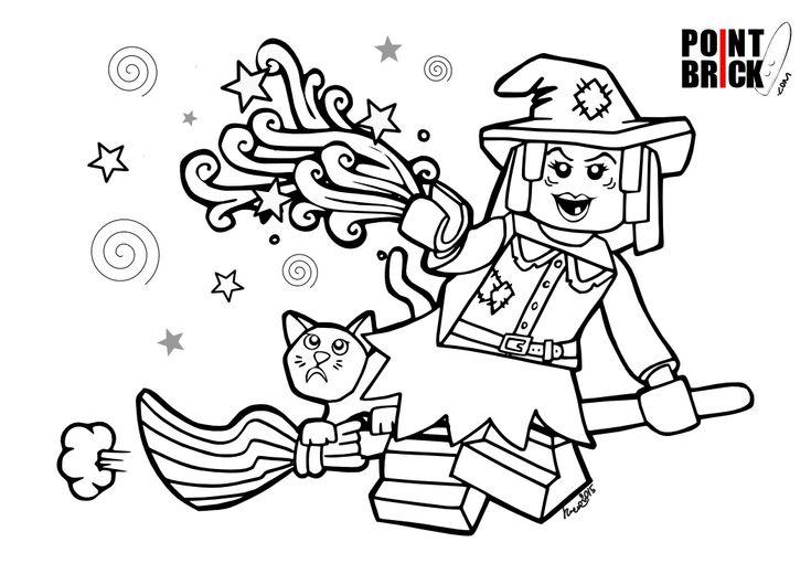 Disegni da Colorare LEGO Minifigures Series 14 Halloween Monsters - Wacky Witch - Clicca sull'immagine per scaricarla gratuitamente!