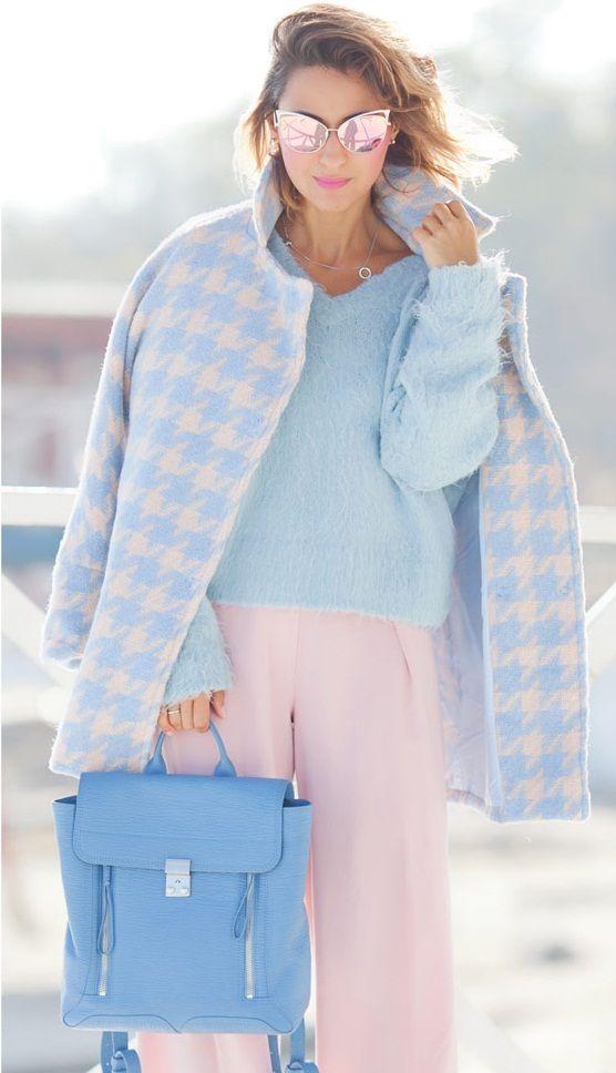 пастельная осень, стильный вязаный джемпер 2015-2016, вязаные вещи 2015-2016, вязаная мода, knitwear (фото 2)