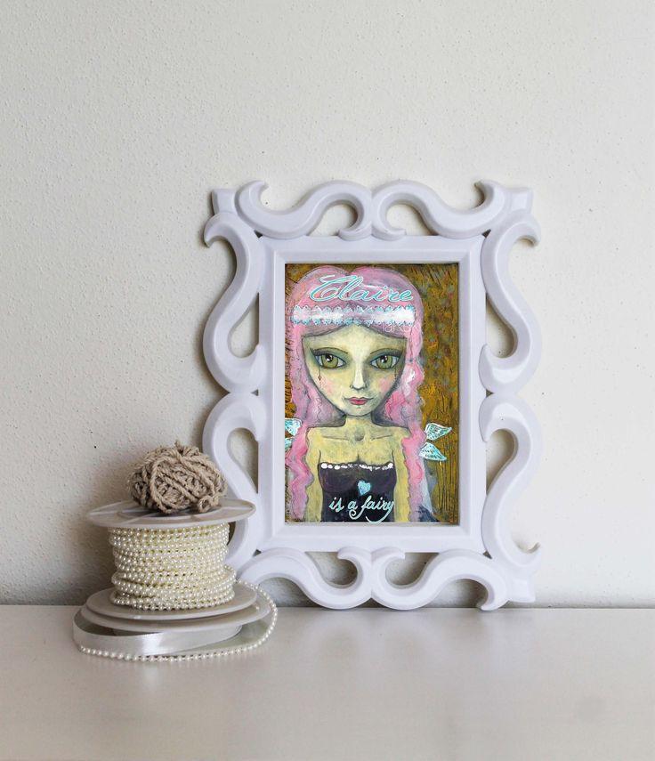 Personalizzato Fatina stampa, arte nome bambini, poster cameretta, ragazze stravaganti, personalizzato fata dipinto, fatina ragazza boho di laKuki su Etsy