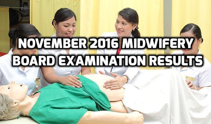 Take a look at the full list of the passers of  the November 2016 Midwifery Licensure Examination. The results came from PRC (Professional Regulation Commission). Out of 3,085 examinees who took part of the November 2016 Midwifery Licensure Exam, 1,572 successfully passed. The exam was given On November 5 and 6 by the Board of Midwifery in the key cities of Manila, Baguio, Cagayan de Oro, Cebu, Davao, Iloilo, Legazpi, Lucena, Tacloban, Tuguegarao and Zamboanga.