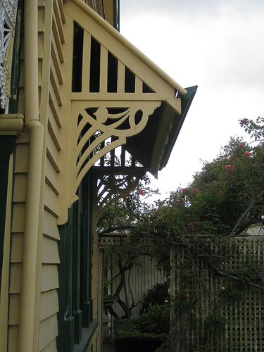 Art Nouveau Fretwork Detail on the Side of Hymettus Cottage - Ballarat